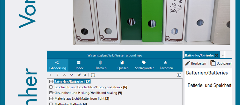 """Picture shows two panels, one with files on a shelf, denoted as """"previous"""", one with the file structure given by the program Lexican (""""afterwards"""")."""